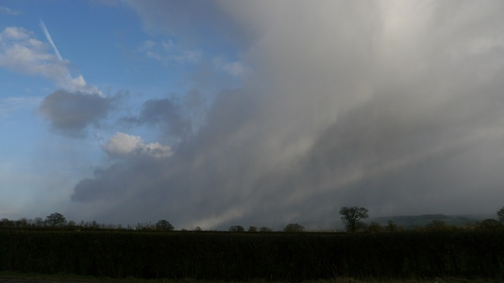 Snow storm heading for Cam, 11 March 2012, MJMcGill
