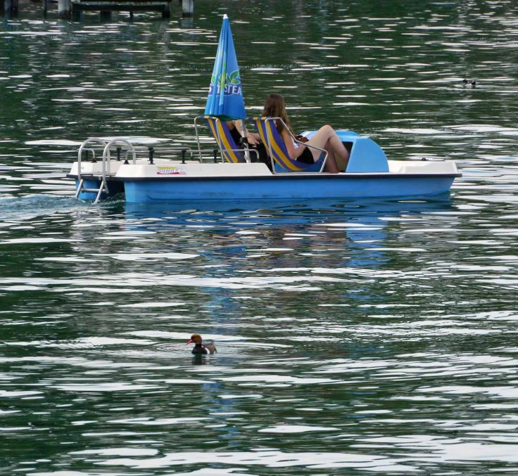 RCP and pedalo, Ouchy, Switzerland, MJMcGill