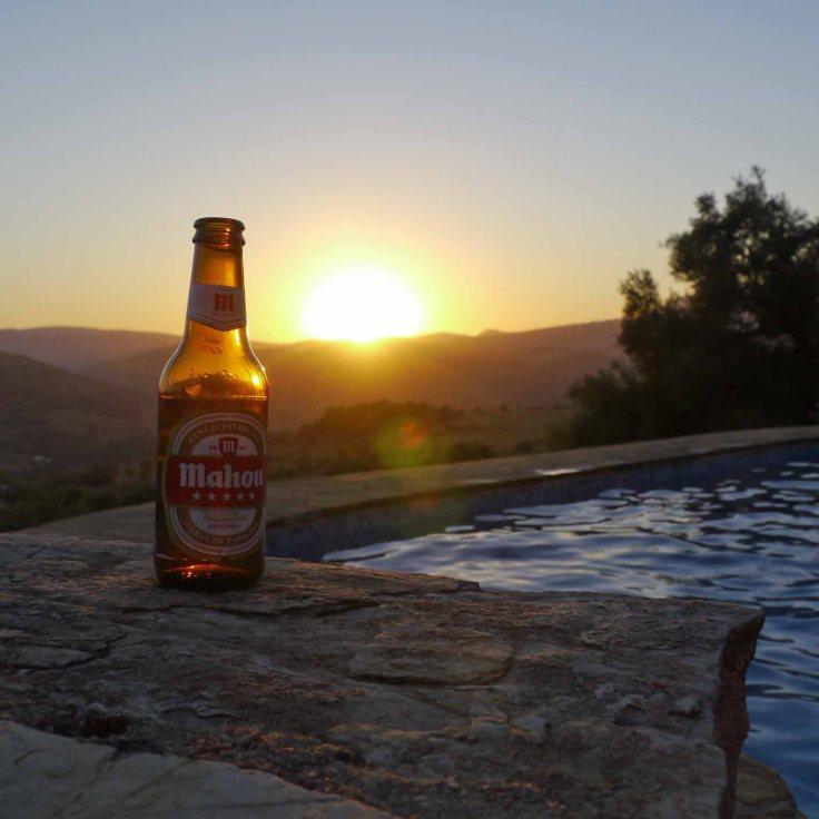 Beer sunset at Villa la Palma